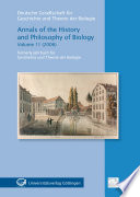 Annals Of The History And Philosophy Of Biology 11 2006