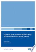 Safeguarding Good Scientific Practice
