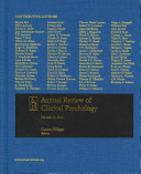 Annual Review Of Clinical Psychology 2014 book