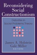 Reconsidering Social Constructionism