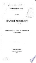 Constitution of the Spanish Monarchy