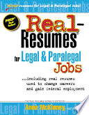 Real-resumes for Legal and Paralegal Jobs