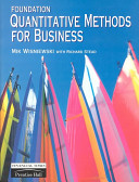 Foundation Quantitative Methods for Business