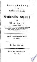 Untersuchung   ber die natur und die ursachen des nationalreichtums
