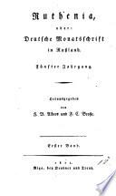 Ruthenia oder deutsche Monatsschrift in Ru  land