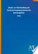 Gesetz zur Gleichstellung mit Zusatzversorgungssystemen des Beitrittsgebiets