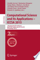 Computational Science and Its Applications    ICCSA 2015