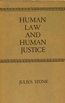 Human Law and Human Justice