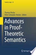 Advances in Proof Theoretic Semantics