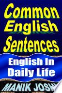 Common English Sentences