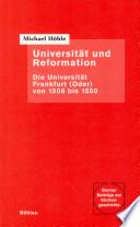 Universität und Reformation