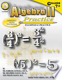 Algebra II Practice Book  Grades 7   8