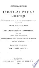 Historical Sketches of English and American Literature