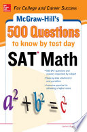 500 SAT Math Questions to Know by Test Day