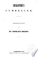 Shakspere s Werke  Romeo and Juliet  Cymbeline  Troilus and Cressida  Coriolanus  Julius Caesar  Antony and Cleopatra