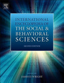 International Encyclopedia of the Social   Behavioral Sciences