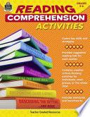 Reading Comprehension Activities  Grades 5 6