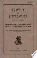 Architectes et architecture dans la littérature française