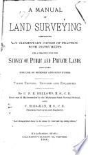 A Manual Of Land Surveying