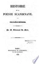 Histoire de la poésie scandinave
