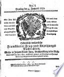 Intelligenz-Blatt der freien Stadt Frankfurt