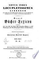 Index Locupletissimus Librorum [...].