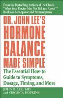 Dr  John Lee s Hormone Balance Made Simple