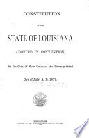 Constitution of the State of Louisiana