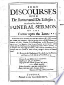 Some Discourses Upon Dr  Burnet and Dr  Tillotson