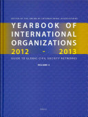 Yearbook of International Organizations 2012 2013