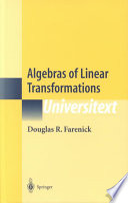 Algebras of Linear Transformations