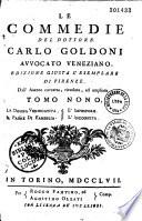 Le commedie di Goldini