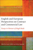 English and European Perspectives on Contract and Commercial Law