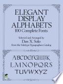 Elegant Display Alphabets