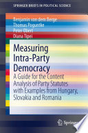 Measuring Intra Party Democracy