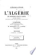 Législation de l'Algérie