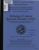 Technology   Autism Spectrum Disorders  ASD
