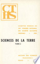 COMPTES RENDUS DU 108 CONGRES NATIONAL DES SOCIÉTÉS SAVANTES GRENOBLE 1983