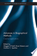 Advances In Biographical Methods book