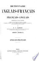 Dictionnaire anglais fran  ais et fran  ais anglais  par E C  Clifton et A Grimaux  Anglais fran  ais
