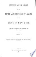 Annual Report of the State Commissioner of Excise of the State of New York