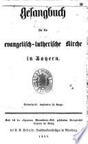 Gesangbuch f  r die evangelisch lutherische Kirche in Bayern