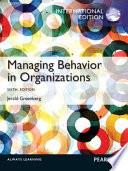 Managing Behavior in Organizations
