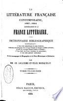 La litt  rature fran  aise contemporaine  1827  1849