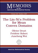 The Lin-Ni's Problem for Mean Convex Domains