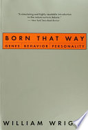 Born That Way