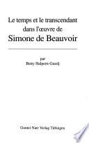 Le temps et le transcendant dans l'œuvre de Simone de Beauvoir