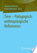 Tiere   P  dagogisch anthropologische Reflexionen