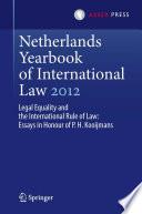 Netherlands Yearbook of International Law 2012
