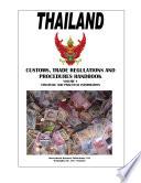 Thailand Customs, Trade Regulations and Procedures Handbook